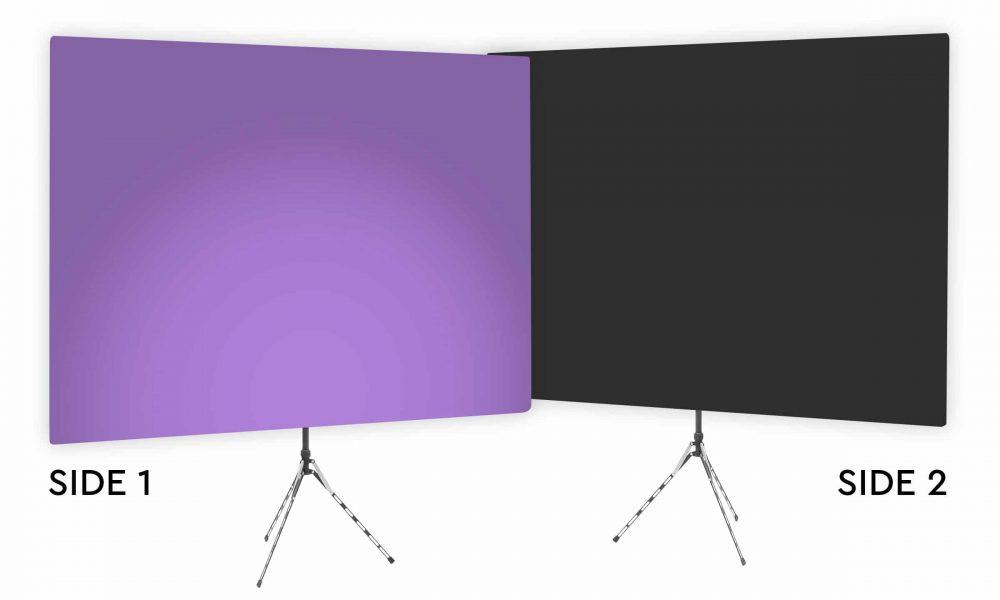 Purple Rhyme Uplight - Purple Gradient Webcam Backdrop - With Black Second Side