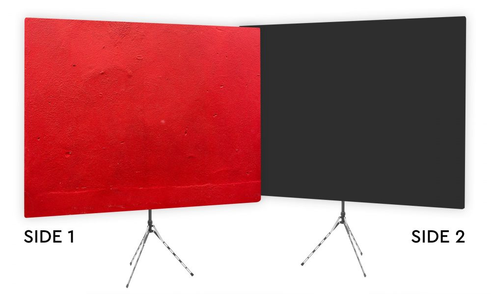Wrangler Red - Webcam Backdrop - Black Second Side