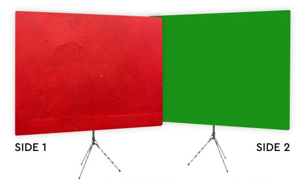 Wrangler Red - Webcam Backdrop - Green Screen Second Side