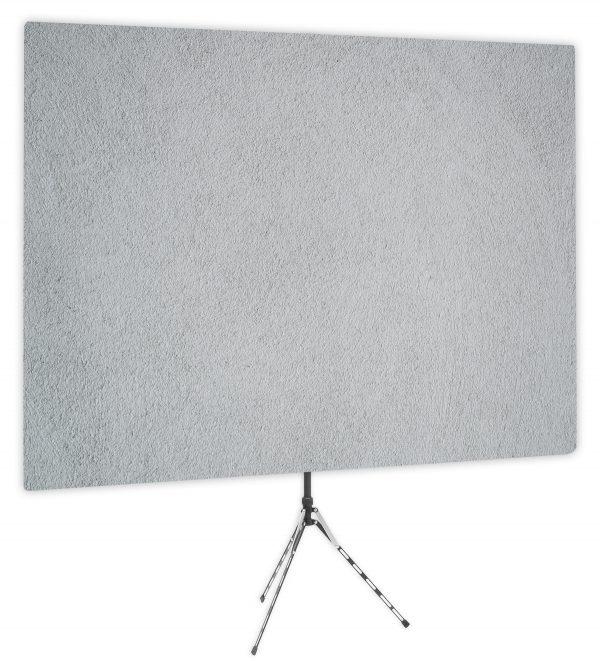 Surface Interest Gray Textured Webcam Backdrop - Side 1