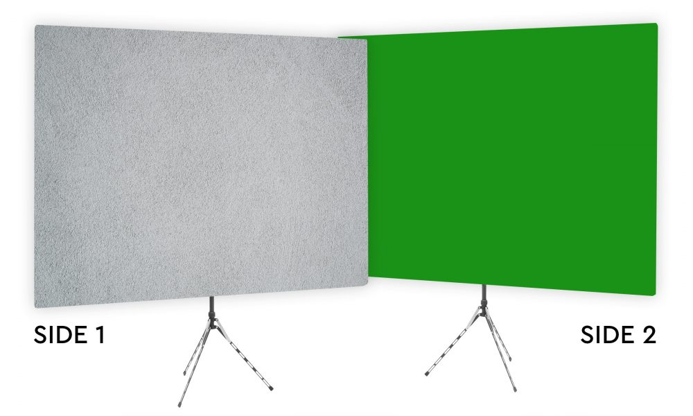 Surface Interest Gray Textured Webcam Backdrop - Green Screen Second Side
