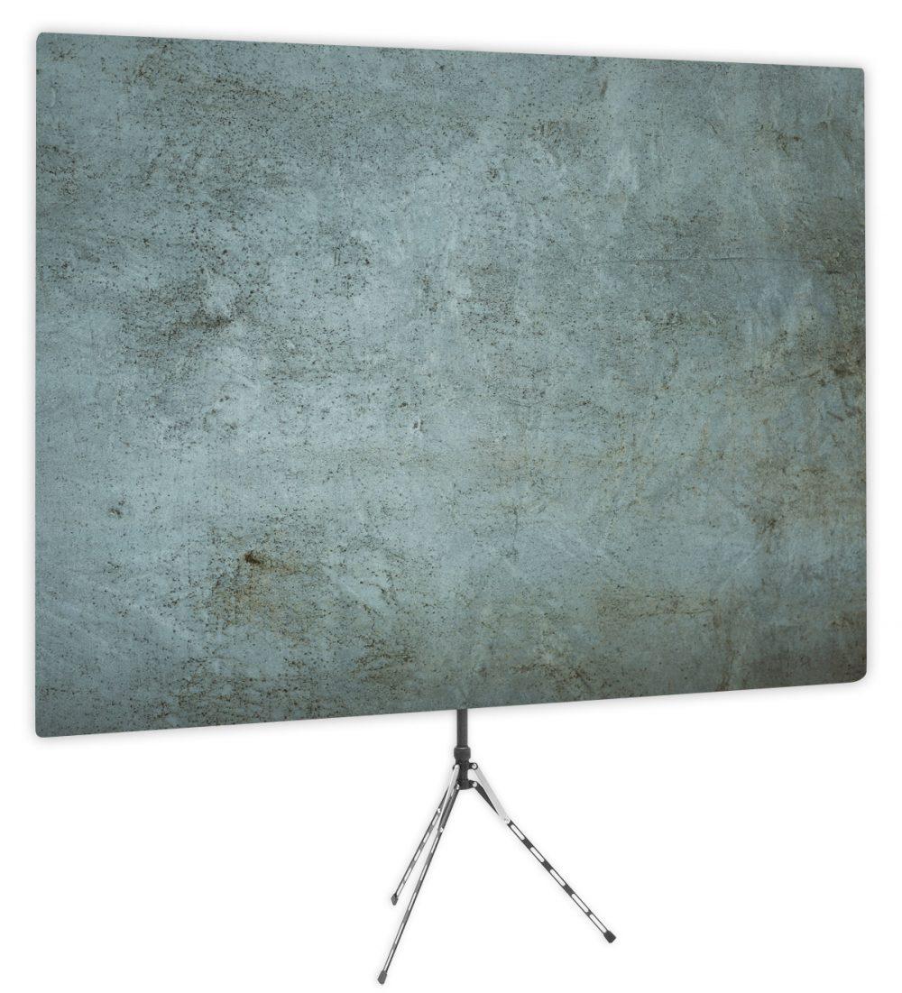 Grunge Gray Textured Webcam Backdrop - Side 1