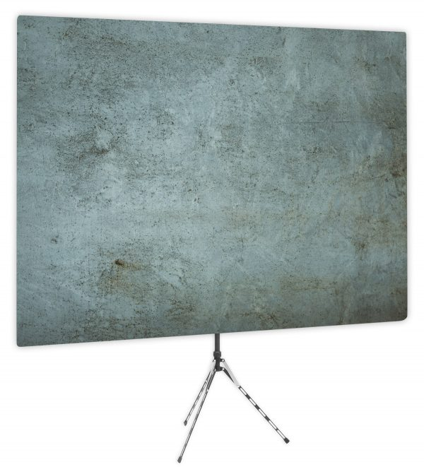 Grunge Gray Textured Webcam Backdrop - Side 1