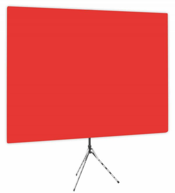 Wrangler Red - Solid Red Webcam Backdrop - Side 1