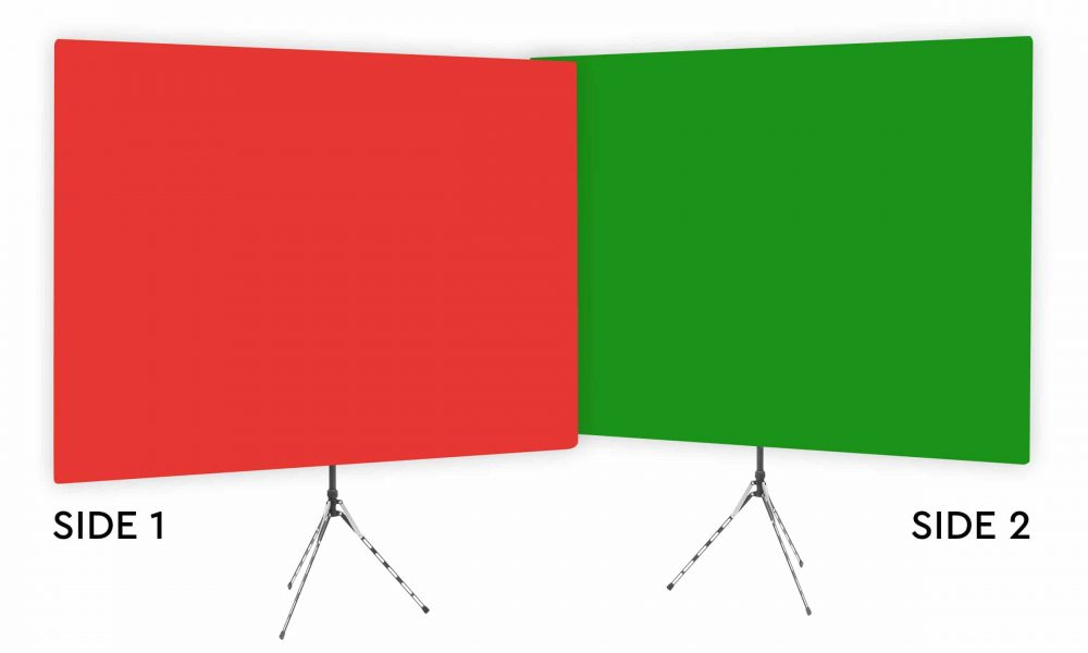 Wrangler Red - Solid Red Webcam Backdrop - Green Screen Second Side