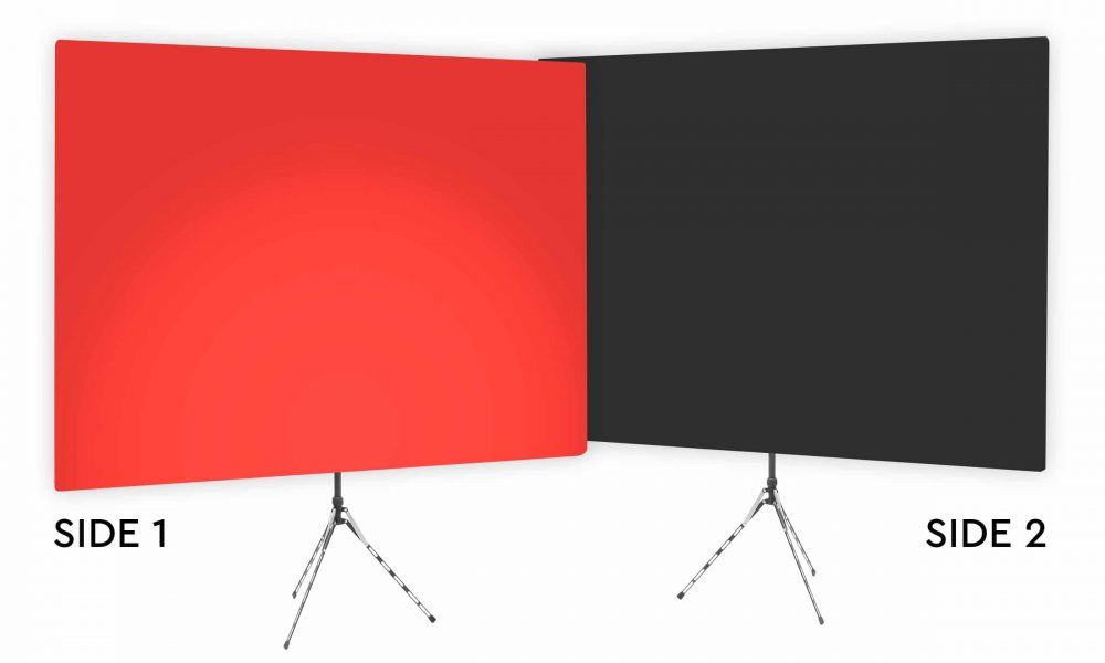 Wrangler Red Uplight - Red Gradient Webcam Backdrop - With Black Second Side