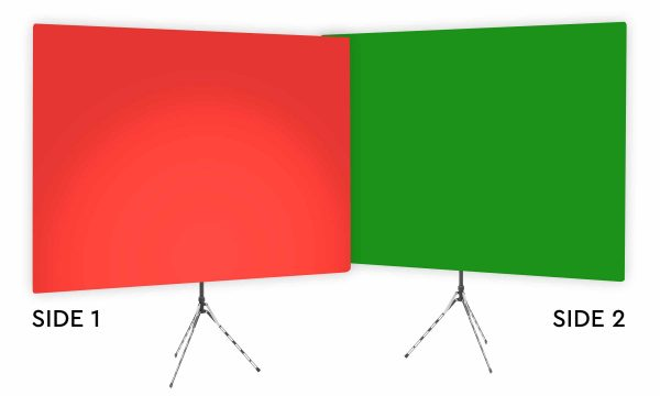 Wrangler Red Uplight - Red Gradient Webcam Backdrop - With Green Screen Second Side