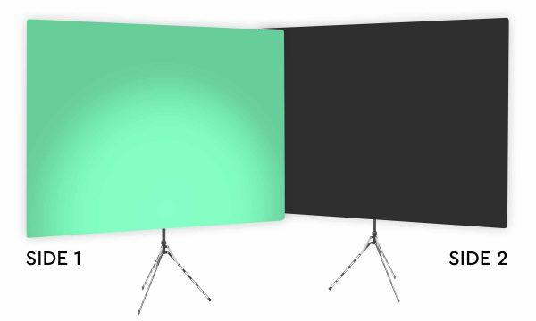 Zen Effect Uplight - Green Gradient Webcam Backdrop - With Black Second Side