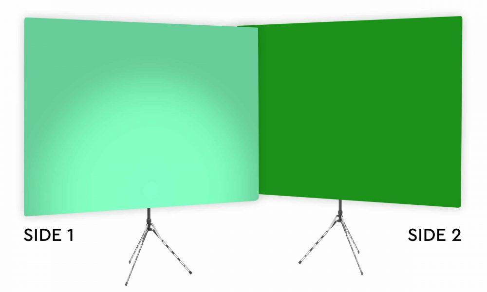 Zen Effect Uplight - Green Gradient Webcam Backdrop - With Green Screen Second Side