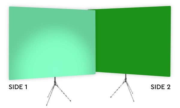 Zen Effect Uplight - Green Gradient Webcam Backdrop - With Green Screen Second Side