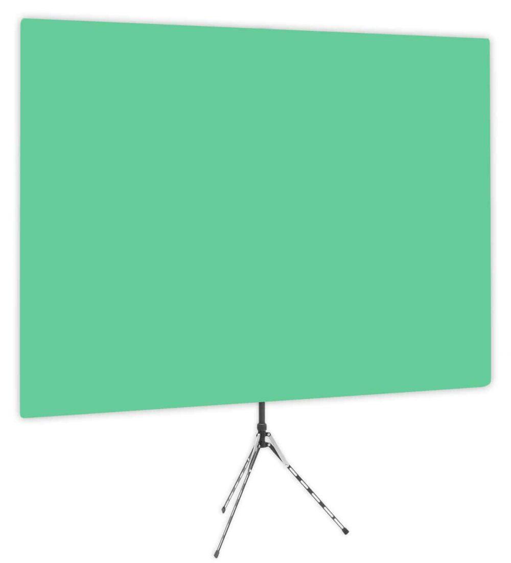 Zen Effect - Solid Green Webcam Backdrop - Side 1