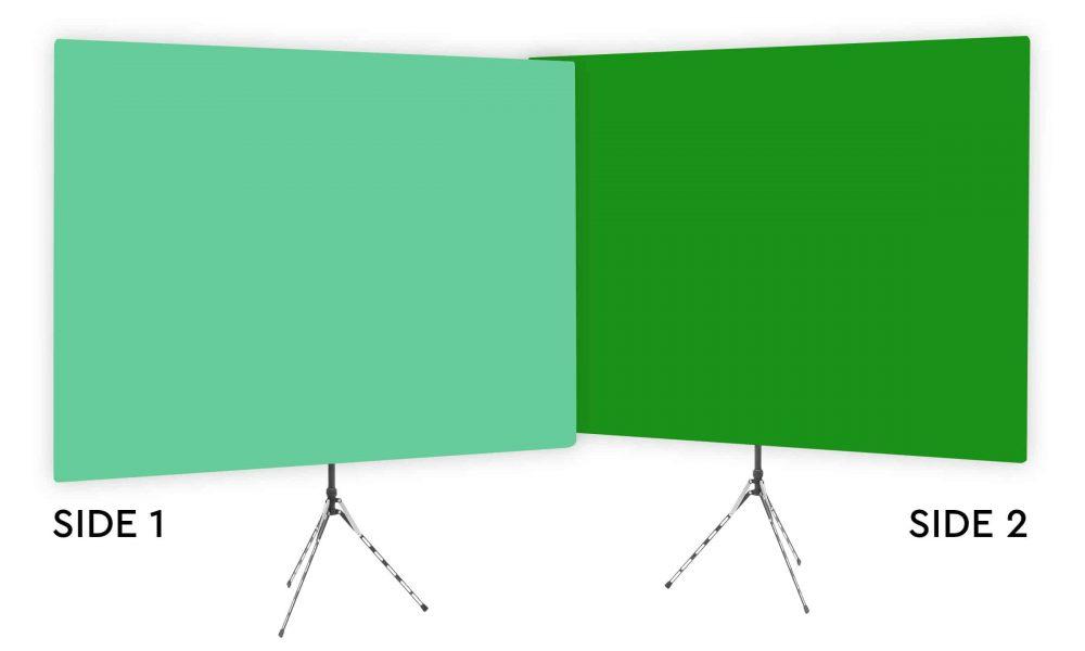 Zen Effect - Solid Green Webcam Backdrop - With Green Screen Second Side