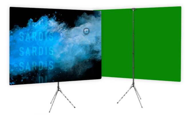 blue company back screen