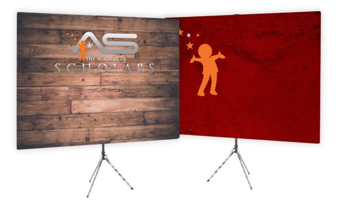 educational video conference backdrop