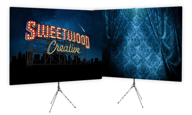 full color corporate branded backdrops